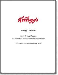 KELLOGG COMPANY 2018 Annual Report