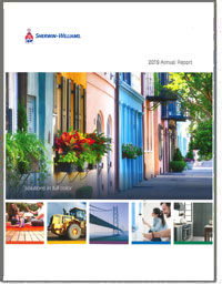 SHERWIN-WILLIAMS COMPANY 2016 Annual Report