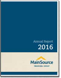 MAINSOURCE FINANCIAL GROUP INC 2016 Annual Report