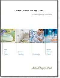 UNITED-GUARDIAN INC 2018 Annul Report