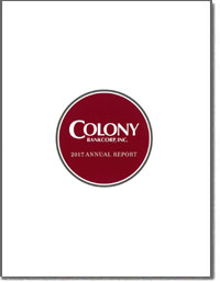 COLONY BANKCORP INC 2016 Annual Report