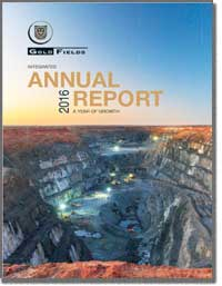 GOLD FIELDS LTD 2016 Annual Report