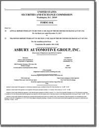 ASBURY AUTOMOTIVE GROUP INC 2016 Annual Report