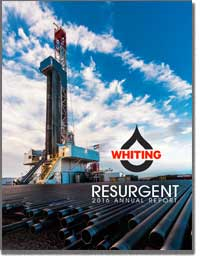 WHITING PETROLEUM CORPORATION 2016 Annul Report