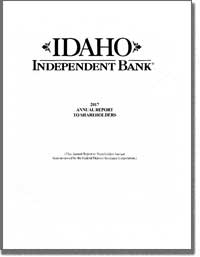 IDAHO INDEPENDENT BANK 2017 Annual Report
