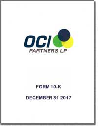 OCI PARTNERS LP 2016 Annual Report